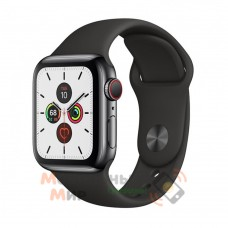 Смарт-часы Apple Watch Series 5 GPS 44mm Space Black Stainless Steel Case with Black Sport Band (MWWK2)
