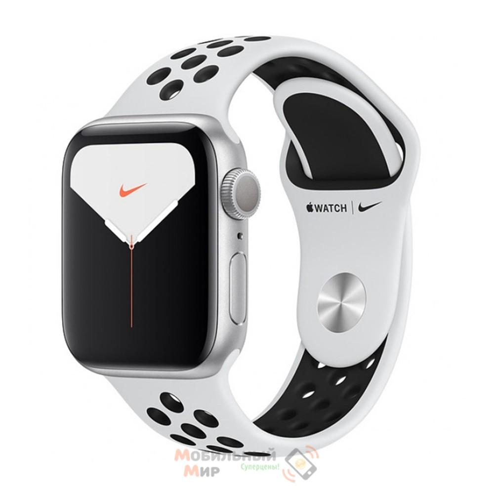 Смарт-часы Apple Watch Nike Series 5 GPS 40mm Silver Aluminium Case with Pure Platinum/Black Nike Sport Band (MX3R2)