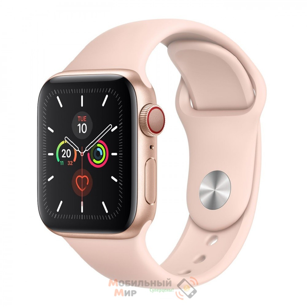 Смарт-часы Apple Watch Series 5 GPS 40mm Gold Aluminum Case with Pink Sand Sport Band (MWWP2)