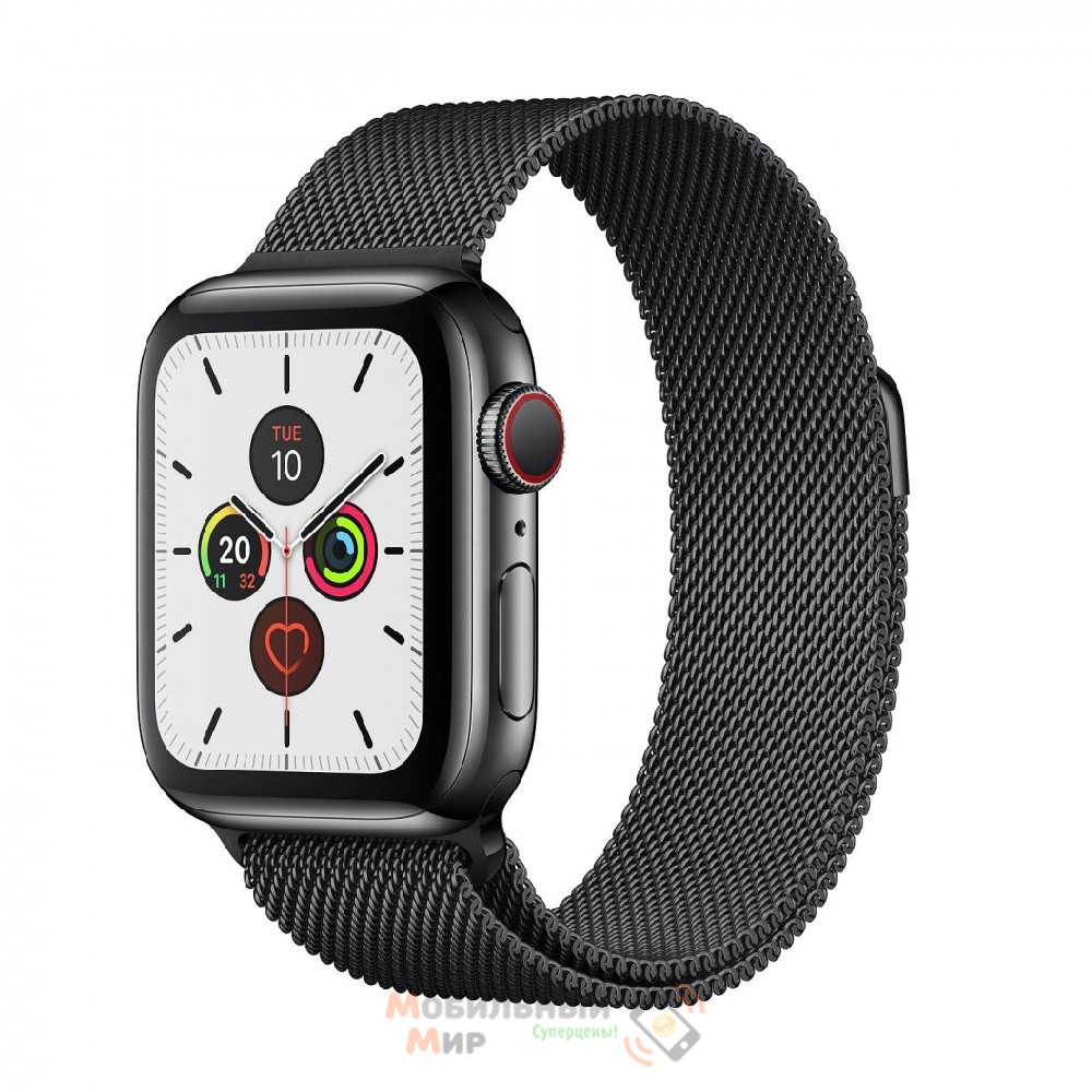 Смарт-часы Apple Watch Series 5 GPS+LTE 44mm Space Black Stainless Steel Case with Black Milanese Loop (MWW82, MWWL2)