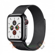 Смарт-часы Apple Watch Series 5 GPS+LTE 40mm Space Black Stainless Steel Case with Space Black Milanese Loop (MWX92, MWWX2)
