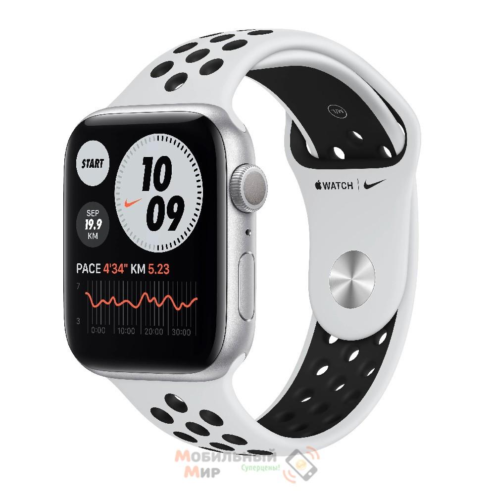 Смарт-часы Apple Watch Nike SE GPS 44mm Silver Aluminium Case with Pure Platinum/Black Nike Sport Band (MYYH2)