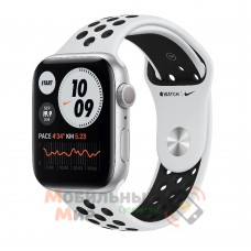 Apple Watch Nike SE GPS 44mm Silver Aluminium Case with Pure Platinum/Black Nike Sport Band (MYYH2)