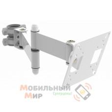Кронштейн наклонно-поворотный для мониторов Квадо K-110 White