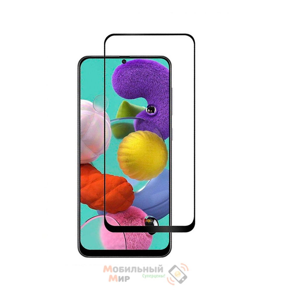 Защитное стекло Full Glue для Samsung A51/A515 5D Black