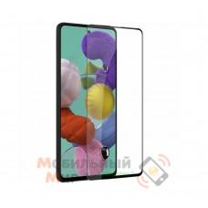 Защитное стекло 5D Full Glue для Samsung A71/A715/M51/M515 2020 Black