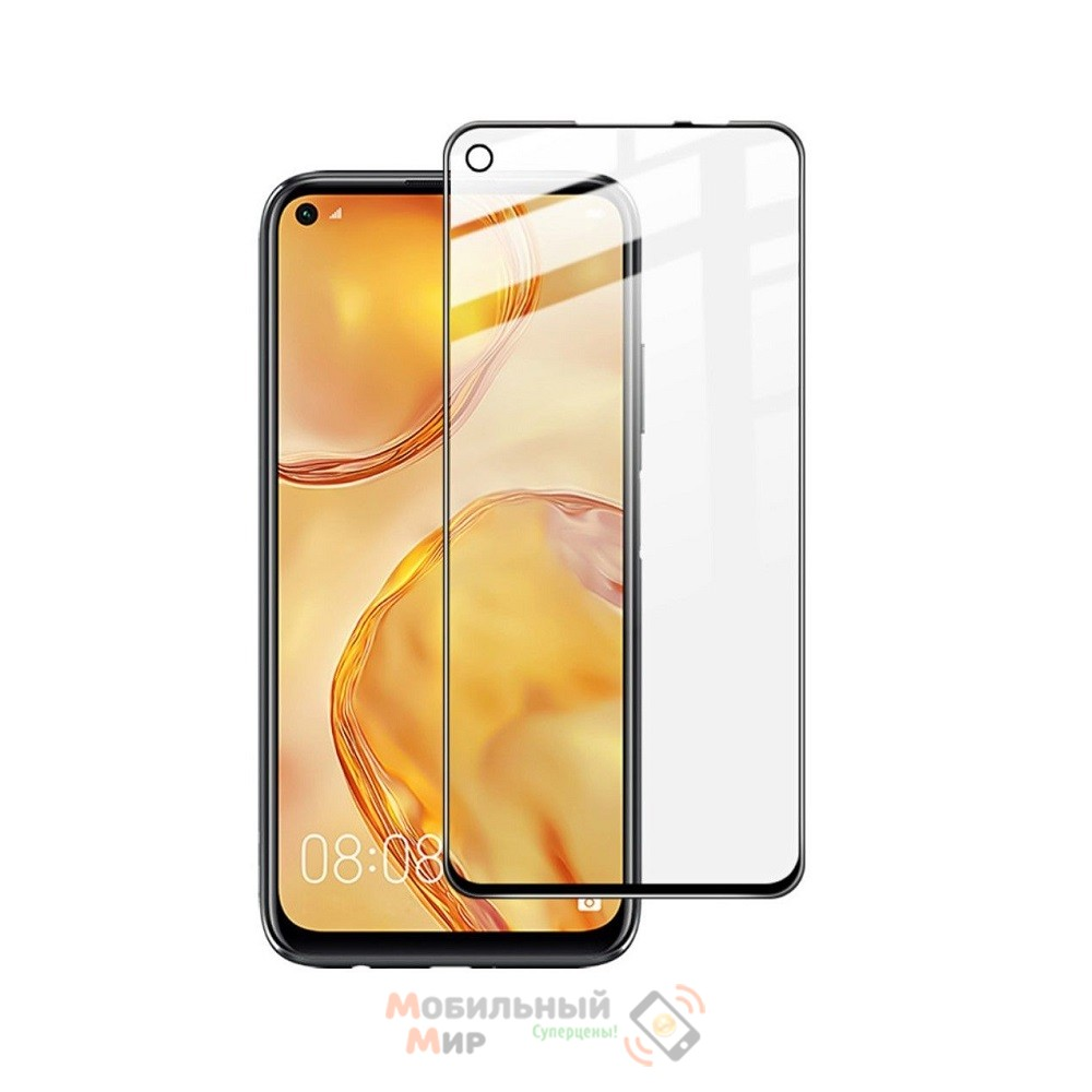 Защитное стекло Lion Full Glue для Huawei P40 Lite 2020 5DBlack
